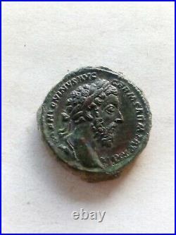 069. Ancient Roman Bronze Coin, As Marco Aurelie, 11.7gr 2.7cm