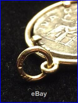 14 Karat Yellow Gold Ancient Roman Coin Pendant I-8562