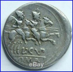 147 BC ancient silver coin Roman Republic Denarius of L Cupiennius