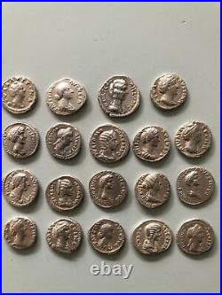 19 Ancient Roman Silver Coins