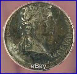 2 BC-AD 4 Ancient Roman Silver Coin Augustus Gaius & Lucius ANACS F-15 AKR