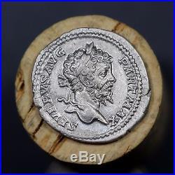 200 A. D. Ancient Roman Silver Denarius Coin, Emperor Septimius Severus