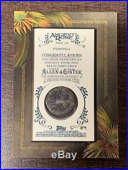 2016 Topps Allen & Ginter Ancient Rome Mini Relic Roman Silver Coin 1/1 Pompeii