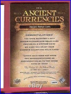 2017 Goodwin Champions Ancient Currencies Roman Coin Relic Card Museum Upper Dec