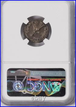 222-235 AD Roman Empire Denarius NGC AU Ancient Coin Severus Alexander