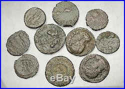 250-450AD Group Lot of 10 Authentic Ancient ROMAN Coins Collection KIT i51265