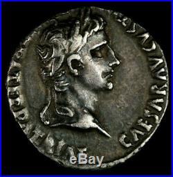 27 BC-AD 14 Augustus AR Denarius Roman Ancient Coin