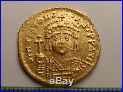 3191 Ancient Roman gold solidus coin Tiberius II Constantine 6 century AD, 4.50g