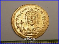 3193 Ancient Roman gold solidus coin Tiberius II Constantine 6 century AD, 4.51g