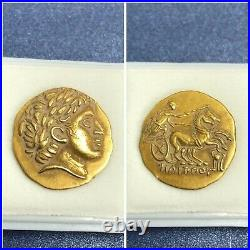 (4.25g) Wonderful unresearched ancient Roman king solid 22k gold coin very rare