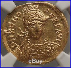 476AD Emperor ZENO Rare Ancient Roman GOLD Solidus Coin NGC Mint State MS i53390