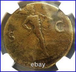 69-79 Ad Roman Empire Vespasian Ae Sestertius Coin Ngc Choice Fine
