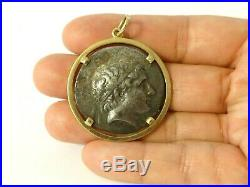 750 18k Yellow Gold Pendant Repro Ancient Roman Coin total weight 24.3g No Scrap