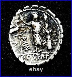A. Postumius Albinus, Stunning Denarius circa 81 BC. Roman Republic Silver Coin