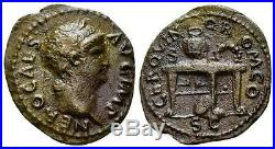 AC#C0H Ancient Roman Nero Caesar Coin 54-68 Semis circa 64 18mm 3.09g Rare