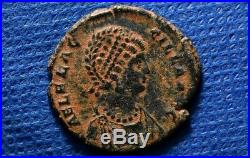 AELIA FLACCILLA, wife of Theodosius I. Æ2. Ancient Roman Imperial Chi-Rho coin