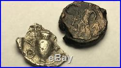 ANCIENT AUTH. 2 Coin$ 1 Silver RARE$ GREEK Coin 411 BC. SATYR. & 1 ROMAN 307 AD
