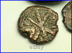ANCIENT AUTH. 3 Coin$ 1 GREEK 323 BC, BYZANTINE CHI-RHO 527 AD, 1 ROMAN 307 AD