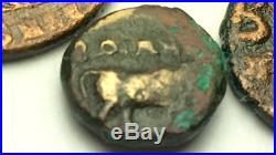 ANCIENT AUTH. 4 RARE$ Coins 1 GREEK 400 BC, 2 ROMAN 307 AD & 1 BYZANTINE 527 AD