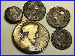 ANCIENT AUTH. 5 XRARE$ Coins 1 GREEK, APOLLO 200 BC, 4 ROMAN 161 AD. VICTORY &