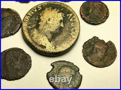 ANCIENT AUTH. 8 XRARE$ ROMAN COINS 117-565 AD. HADRIAN, CAMPGATE, LEGION, etc
