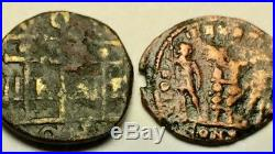 ANCIENT AUTH. ROMAN 2 Coins NICAEA, SEVERUS 222 -235 AD & 2 LEGION SOLD. 307 AD