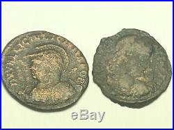 ANCIENT Auth. ROMAN 2 coin$ NUDE GOD JUPITER 317 AD & 2 LEGION 2 VICTORY 307AD