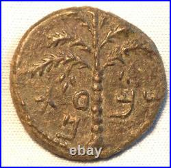 ANCIENT JEWISH / ROMAN COIN 2nd REVOLT year 2 BAR COCHBA 132-135 AD