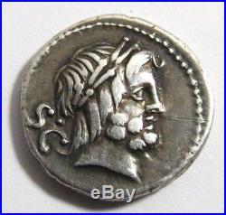 ANCIENT PROCILIA DENARIUS EF SILVER COIN. THE ROMAN REPUBLIC 280 BC to 27 B
