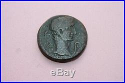 ANCIENT ROMAN AUGUSTUS AE NORTH AFRICA COIN 1st CENT BC/AD 12 CAESAR
