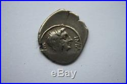 ANCIENT ROMAN AUGUSTUS SILVER QUINARIUS COIN 1st CENT BC/AD CAESAR