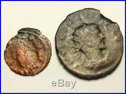 ANCIENT ROMAN Auth. 2 coin$. PROBUS 276 282 AD. FELICITAS & WREATH. 307- AD