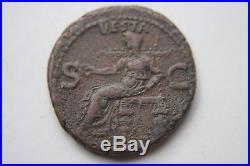 ANCIENT ROMAN CALIGULA COIN 1st CENT AD CAESAR