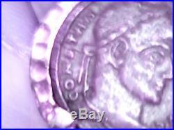 ANCIENT ROMAN COIN CONSTANS, Follis 321-324, Shield, 925 sterling silver ring