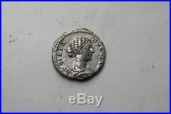 ANCIENT ROMAN LUCILLA SILVER DENARIUS COIN 2nd CENTURY AD