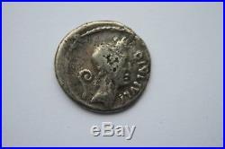 ANCIENT ROMAN PORTRAIT JULIUS CAESAR SILVER DENARIUS COIN 1st CENTURY BC