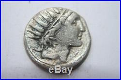 ANCIENT ROMAN REPUBLIC DENARIUS COIN 2/1st CENTURY BC
