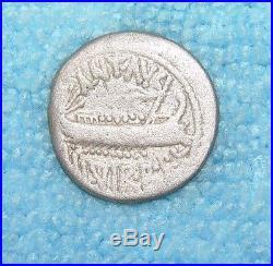 ANCIENT ROMAN SILVER AR DENARIUS COIN MARK ANTONY circa 31 BC Ref. 383