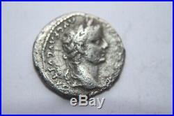 ANCIENT ROMAN TIBERIUS SILVER DENARIUS COIN TRIBUTE PENNY 1st CENT AD CAESAR