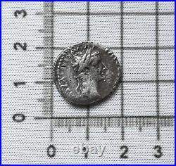 ANCIENT ROMAN TIBERIUS SILVER DENARIUS COIN (TRIBUTE PENNY) 1st CENT AD CAESAR