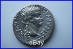 ANCIENT ROMAN TIBERIUS SILVER DENARIUS COIN TRIBUTE PENNY 1stCENT AD CAESAR