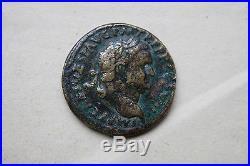 ANCIENT ROMAN TITUS JUDEA CAPTA SESTERTIUS COIN 1st CENT AD 12 CAESARS