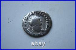 ANCIENT ROMAN TITUS SILVER DENARIUS COIN 1st CENT AD CAESAR