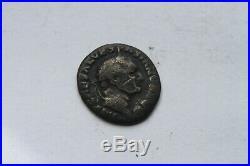 ANCIENT ROMAN VESPASIAN JUDEA CAPTA SILVER DENARIUS COIN 1st CENT AD CAESAR
