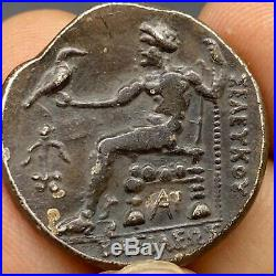 ANCIENT WONDERFUL GREEK AR SILVER TETRADRACHM COIN ALEXANDER THE GREAT 15gr
