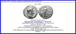ANTONINUS PIUS 138AD Silver Authentic Ancient Roman Coin SALUS Health i70274