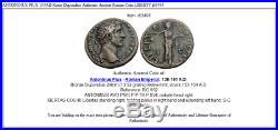 ANTONINUS PIUS 153AD Rome Dupondius Authentic Ancient Roman Coin LIBERTY i63495