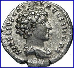 ANTONINUS PIUS & MARCUS AURELIUS as CAESAR Ancient Silver Roman Coin i83644