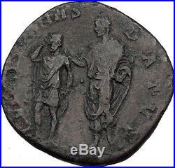 ANTONINUS PIUS with ARMENIAN KING Sohemo Sestertius Ancient Roman Coin NGC i59847