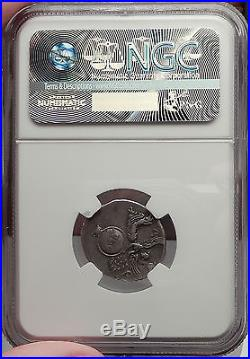 AUGUSTUS 19BC Very Rare Ancient Silver Roman Coin VICTORY COLUMN NGC Certified